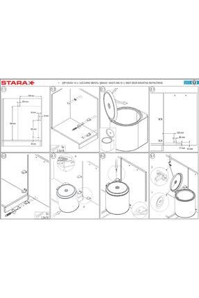 Starax S-2251 Dolap Içi Paslanmaz Çöp Kovası 2