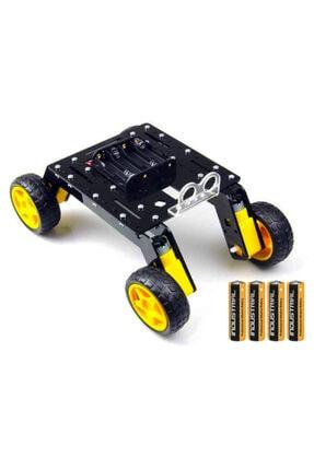Arduino Uno 4wd Rover Araba Seti - Robotik Kodlama Başlangıç Paketi 4