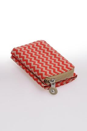 Smart Bags Smb1227-0134 Kırmızı/bej Kadın Cüzdan 1