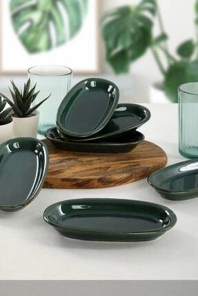 Keramika Zümrüt Hitit Kayık Tabak 16 Cm 6 Adet 0