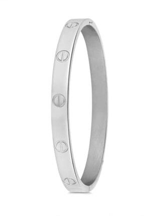 Cartier Kadın Gümüş Paslanmaz Çelik Bileklik 0