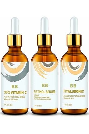 BB Vitamin C + Hyaluronic Acid + Retinol Cilt Serum Set 0