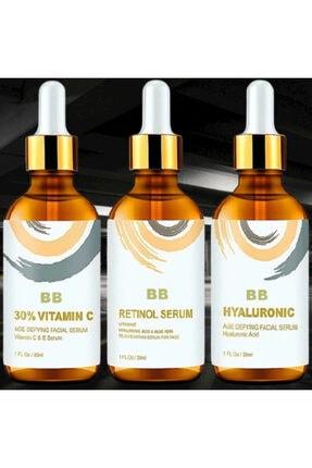 BB Vitamin C + Hyaluronic Acid + Retinol Cilt Serum Set 3