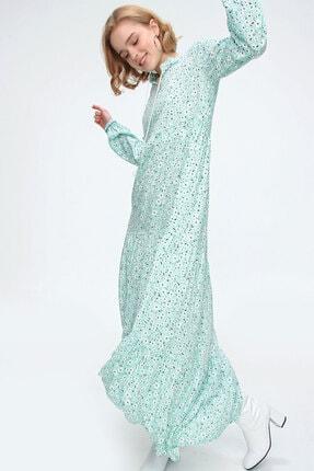 Bigdart Kadın Yeşil Volanlı Elbise 10313 2