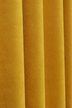 Brillant Sarı Petek Dokulu Fon Perde 150x260 1