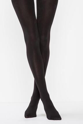 Penti Kadın Siyah Termal Külotlu Çorap 1