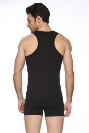 Elif İç Giyim Erkek Siyah Halter Detaylı Atlet 0