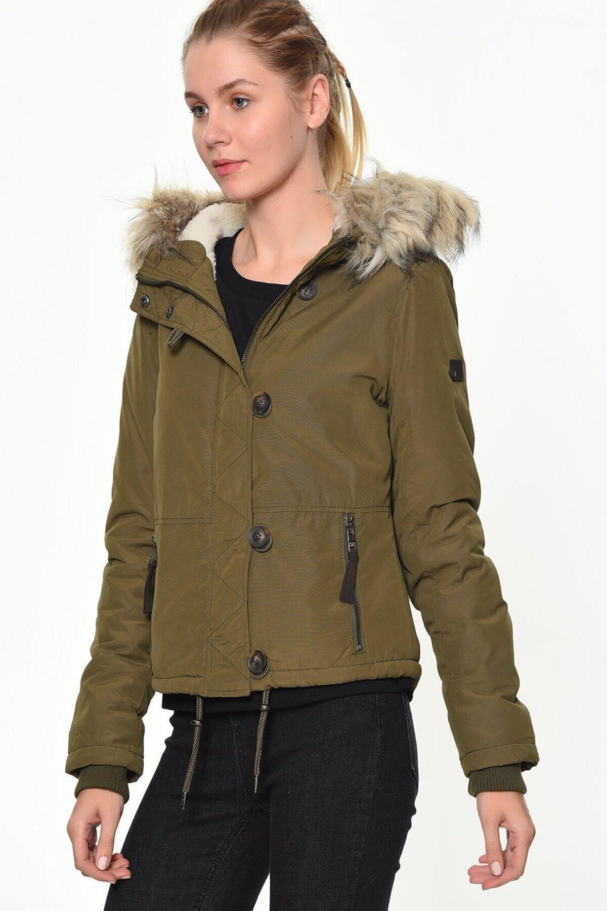 Only Onlpeyton Aw Short Fur Jacket Cc Otw Kadın Mont