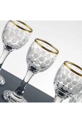 Pasajçeyiz Altın Yaldızlı Kesme Dekor Likör Zemzem Şerbet Bardağı Takımı Seti 1
