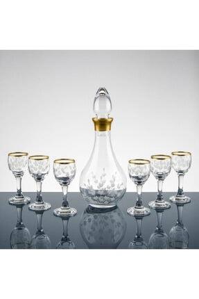 Pasajçeyiz Altın Yaldızlı Kesme Dekor Likör Zemzem Şerbet Bardağı Takımı Seti 0