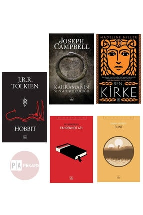 İthaki Yayınları 5'li Kitap Seti - Hobbit, Kahramanın Sonsuz Yolculuğu, Ben Kirke, Dune, Fahrenheit 451 0