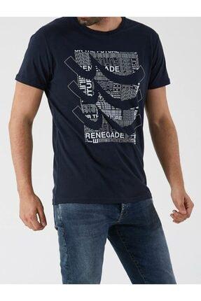 Ltb Erkek  Lacivert  Yazılı Kısa Kol Bisiklet Yaka T-Shirt 012208420960890000 4