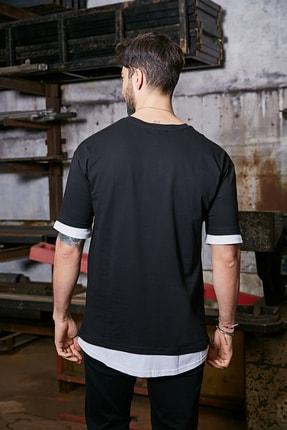 Sateen Men Erkek Siyah Baskılı T-Shirt 2