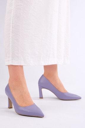 Marjin Kadın LİLA Stiletto Topuklu Ayakkabı Akuna 0