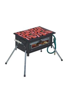 Simline Cam Fırınlı Tüplü Mangal + Kırmızı Lav Taşı 1