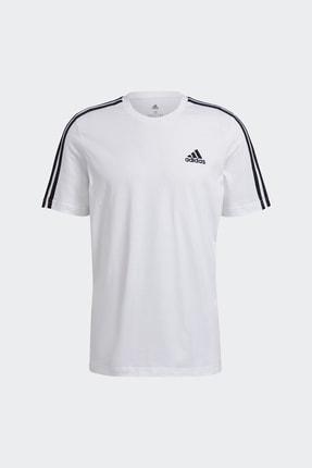 adidas T-shirt Erkek T-shirt Whıte/black Gl3733 3