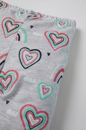 Defacto Kız Bebek Kalp Desenli 2'li Uzun Tayt 2