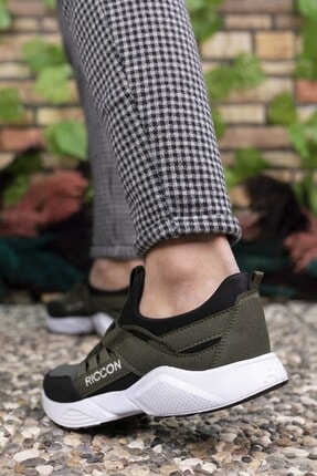 Riccon Haki Siyah Unisex Sneaker 0012072 3