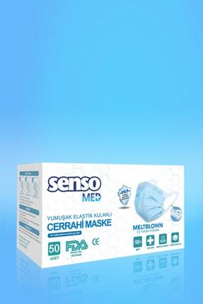 Senso Med Meltblown Elastik Kulaklı Cerrahi Maske 100 Adet Sensomed Tip2r( %99.6'a Koruma Sertifikalı) 3