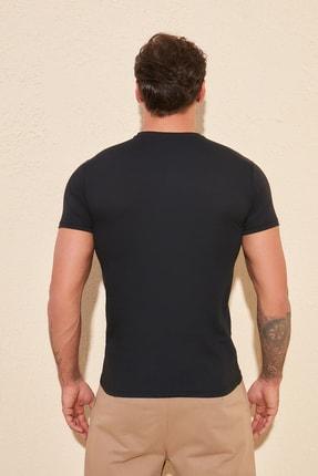 TRENDYOL MAN Siyah Erkek Baskılı Slim Fit T-Shirt TMNSS20TS0092 4