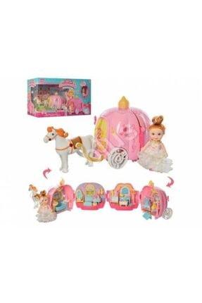 dreamtify Similan Benim Ilk Prenses Arabam Bal Kabağı Evi 44 Parça Barbie Tarzı 0