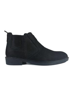 Twom Shoes Erkek Siyah Hakiki Nubuk Deri Klasik Bot 0