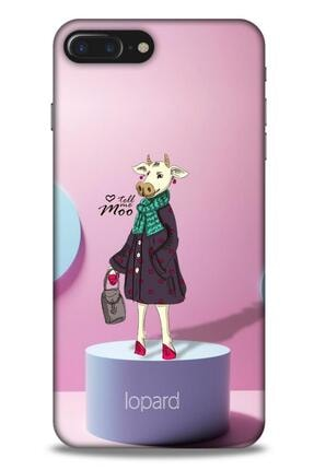 Lopard Apple Iphone 8 Plus Kılıf Funnymax (8) Baskılı Kılıf Pembe Mavi 0