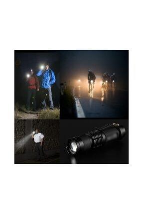 yopigo Star Su Geçirmez Ultra Güçlü Şarjlı El Feneri 2300 Lumens Q5 + Şarjlı Pil Hediyeli 3