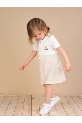 Dondurmalı Gömlek Yaka Lacoste Kumaş Çocuk Elbise LS5220