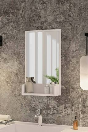 bluecape Inci Beyaz 75cm Raflı Banyo Dolabı Wc Ofis Çocuk Yatak Odası Bahçe Lavabo Aynası 0