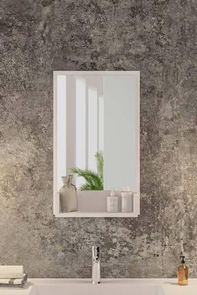 bluecape Inci Beyaz 75cm Raflı Banyo Dolabı Wc Ofis Çocuk Yatak Odası Bahçe Lavabo Aynası 1