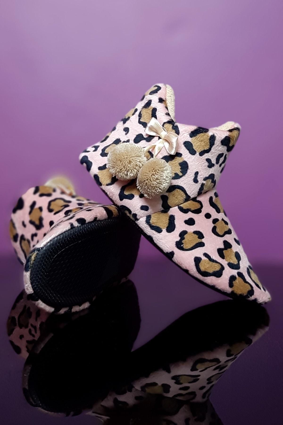 Kadın Leopar Panduf Ev Ayakkabısı