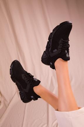 Soho Exclusive Siyah-Siyah Kadın Sneaker 15772 1
