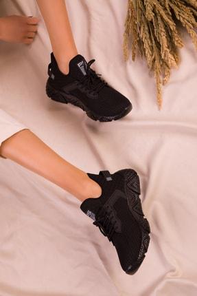 Soho Exclusive Siyah-Siyah Kadın Sneaker 15772 2