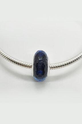 Triaboz Kadın Mavi Pandora Bileklik Uyumlu Cam Charm 4