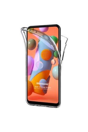 Samsung Microsonic Galaxy A11 Kılıf 6 Tarafı Tam Full Koruma 360 Clear Soft Şeffaf 0