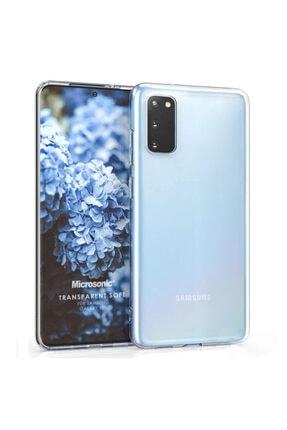 Samsung Microsonic Galaxy S20 Kılıf Transparent Soft Beyaz 0