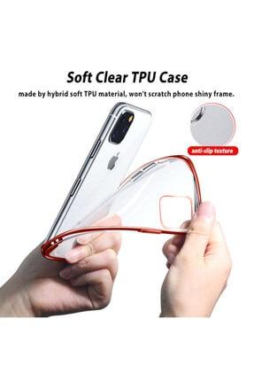 Apple Microsonic Iphone 11 Pro Max (6.5'') Kılıf Skyfall Transparent Clear Kırmızı 3