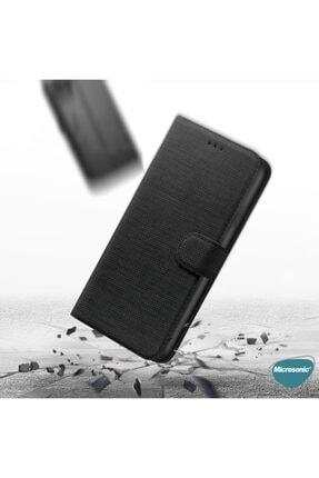 Samsung Microsonic Galaxy A71 Kılıf Fabric Book Wallet Mor 4