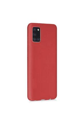 Samsung Microsonic Matte Silicone Galaxy A31 Kılıf Kırmızı 1