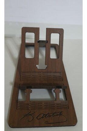 Confused Owl Hediyelik Eşya Atatürk Imzalı Masa Üstü Telefon Tutucu Stant Masaüstü Tablet Tutacak Şarj Standı 0