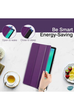 Huawei Microsonic Matepad Pro 10.8'' Kılıf Slim Translucent Back Smart Cover Mavi 4