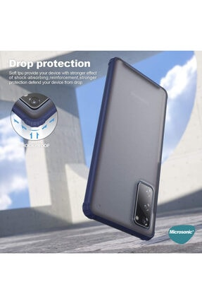 Samsung Microsonic Galaxy S20 Fe Kılıf Frosted Frame Lacivert 3