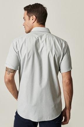 Altınyıldız Classics Erkek Haki Regular Fit Kısa Kollu Gömlek 2