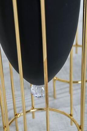 MHK Collection Altın Renkli 2'li Büyük Ayaklı Vazo, Çiçeklik 2