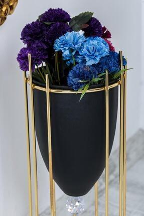 MHK Collection Altın Renkli 2'li Büyük Ayaklı Vazo, Çiçeklik 4