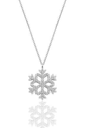 Söğütlü Silver Gümüş Rodyumlu Gümüş Kar Tanesi Kolye 0