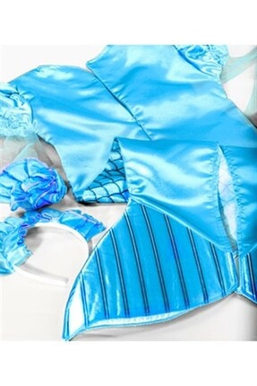 OULABİMİR Deniz Kızı Kostümü Çocuk Kıyafeti 2