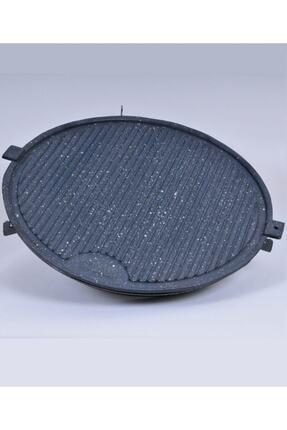 M&K Home Tüplü Döküm Granit Mangal Tava Izgara Et Tavuk Mühürleme Yufka Ekmek Pişirme Portatif 45 Cm 4