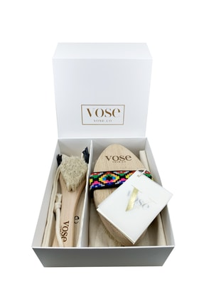 Vose 2' Li Set Doğal At Kılı Selülit (Tulip) + Yüz Fırçası 1
